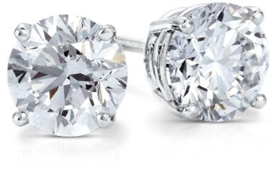 Diamond Stud Earrings In Platinum (2 Ct Tw)  Blue Nile