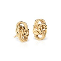 Byzantine Knot Earrings in 18k Yellow Gold