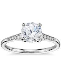 1 Carat Preset Graduated Milgrain Diamond Engagement Ring ...