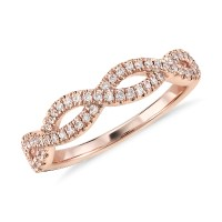 Infinity Twist Micropav Diamond Engagement Ring in 14K ...