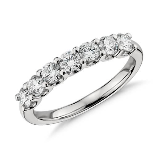 Luna Seven Stone Diamond Ring in Platinum 1 ct tw  Blue Nile