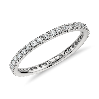 Riviera Pavé Diamond Eternity Ring In Platinum (12 Ct Tw