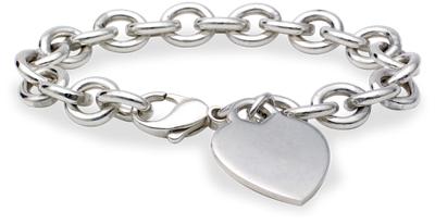 Hearttag Bracelet In Sterling Silver  Blue Nile
