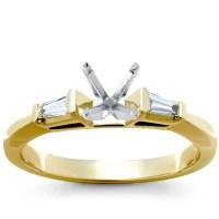 Three-Stone Pav Gallery Diamond Engagement Ring in ...