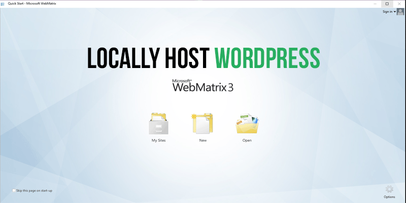 LocalHost WordPress Software Web Matrix