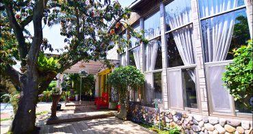 桃園新景觀餐廳》丑貳咖啡龍潭店,大落地窗玻璃景觀屋,擁有大沙坑溜滑梯的親子寵物友善餐廳