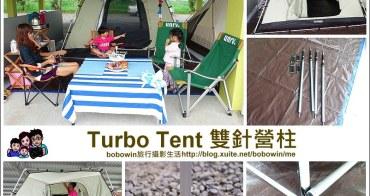 《露營裝備 》Turbo Tent雙針營柱~可用在水泥地帳篷支撐、前庭天幕營柱的好用工具