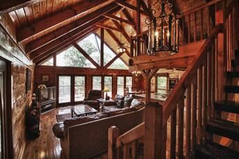 Very cozy living area! at Livin' Lodge in Sky Harbor TN