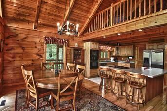Den kitchen area. at Livin' Lodge in Sky Harbor TN