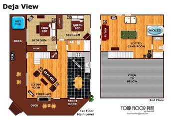 Floor Plan at Deja View in Shagbark TN