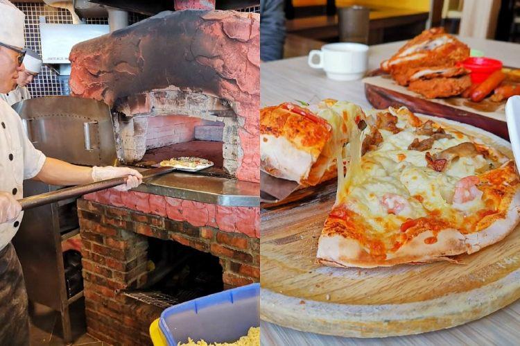 打爆起司手工窯烤披薩。披薩炸雞吃到飽|學生聚餐首選|成大美食