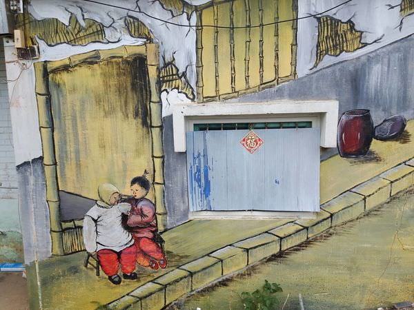 【台南百寶鄉 關廟】台南關廟彩繪村 也有藍晒圖