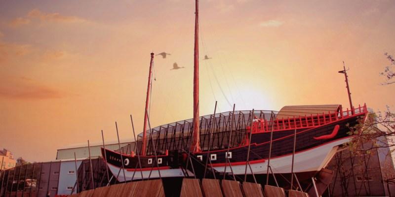台南打卡新景點-「台灣古船」驚現安平港,台灣船園區即將開幕!
