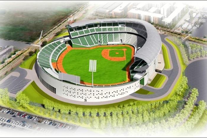 亞太國際棒球村第二期-25000席觀眾席的「成人棒球場」即將動工!預計2023年完工~
