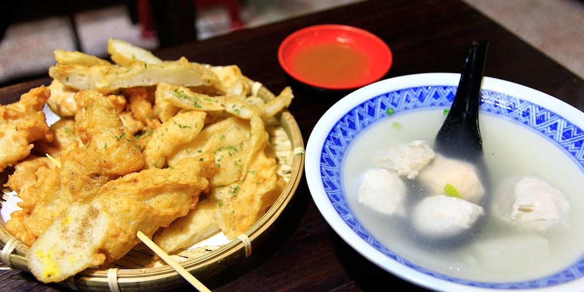 台南傳統小吃推薦,到創意台式下午茶「一農」品嚐現炸甜不辣、虱目魚柳、溏心蛋!