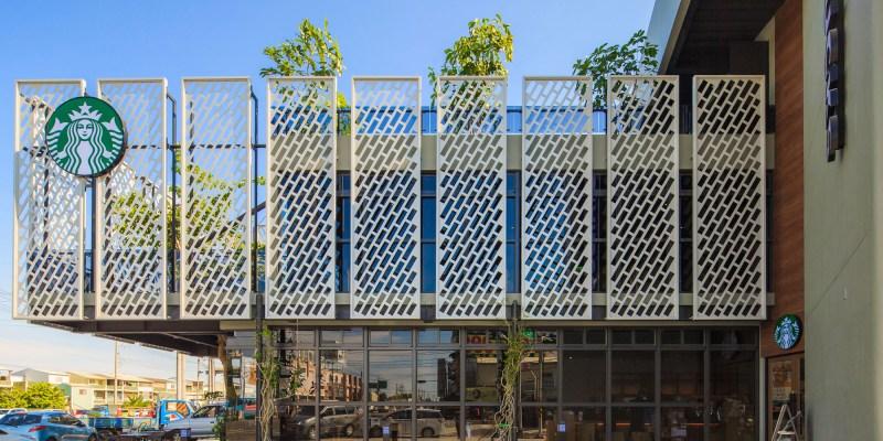星巴克咖啡「台南佳里門市」開幕啦!以紫檀木為中心的自然共生城市綠地~