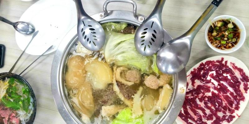 台南聚餐推薦,新鮮現切的溫體牛肉湯、牛肉鍋在「海安牛肉食堂」~