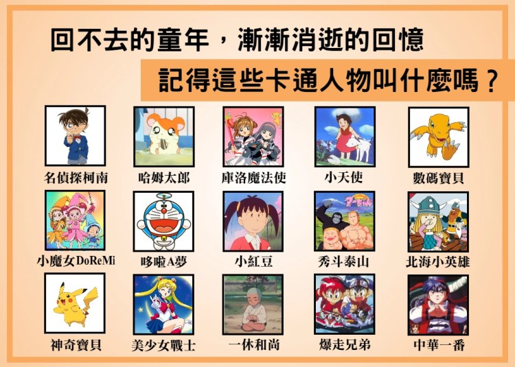 每個人童年的專屬回憶!當年你都看什麼卡通,你還記得他們叫什麼嗎?