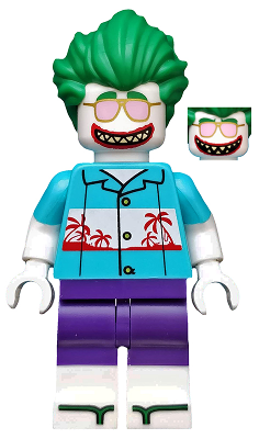 Bricklink Minifig Coltlbm31 Lego Vacation The Joker Minifigure Only Entry Collectible Minifigures The Lego Batman Movie Bricklink Reference Catalog