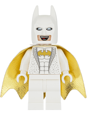 White Batman Lego : white, batman, BrickLink, Minifig, Sh445, Disco, Batman, [Super, Heroes:The, Movie], Reference, Catalog