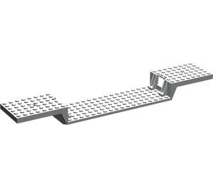 LEGO Light Gray Train Base 6 x 34 Split-Level with Bottom