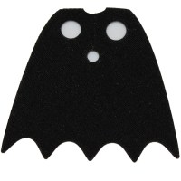 LEGO Black Batman Cape with 5 Points and Normal Fabric ...