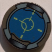 LEGO Dark Gray Round Tile 2 x 2 with Reticle with Normal ...