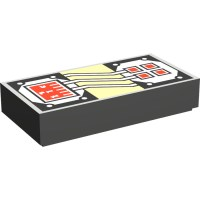 LEGO Dark Gray Tile 1 x 2 with Stingray Control Panel with ...