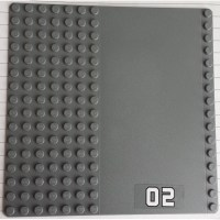 LEGO Dark Stone Gray Baseplate 16 x 16 with Driveway with ...