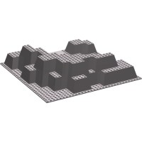 LEGO Dark Stone Gray Baseplate 32 x 32 Canyon Plate ...