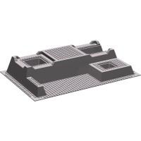 LEGO Dark Stone Gray Baseplate 32 x 48 Raised with Level