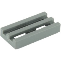 LEGO Dark Stone Gray Tile 1 x 2 Grille (with Bottom Groove ...