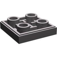 LEGO Dark Stone Gray Tile 2 x 2 Inverted (11203)   Brick ...