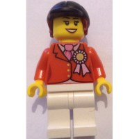 LEGO Minifigure Torso with Red Riding Jacket, Pink Necktie ...