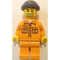 LEGO Jail prisoner with 50380 on Torso Minifigure   Brick ...