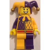 LEGO Jester Hat, Half Dark Purple Pattern with Golden Pom ...