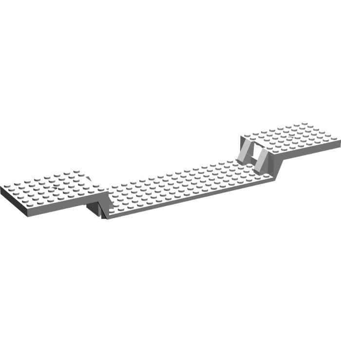 LEGO Medium Stone Gray Train Base 6 x 34 Split-Level