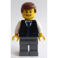 LEGO Minifigure Torso with Vest over Shirt and Blue and ...