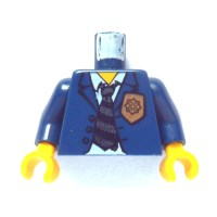 LEGO Police HQ Chief Torso with Golden Badge and Necktie ...
