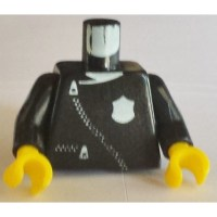 LEGO Police Torso with White Zipper and Badge with Black ...