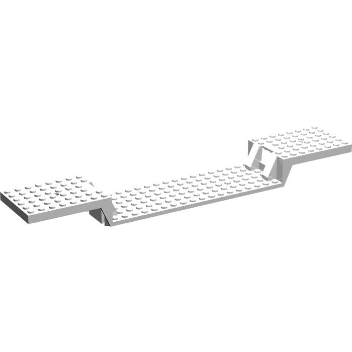LEGO White Train Base 6 x 34 Split-Level without Bottom