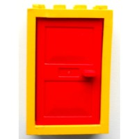 LEGO Yellow Door 2 x 4 x 5 Frame with Red Door | Brick Owl ...