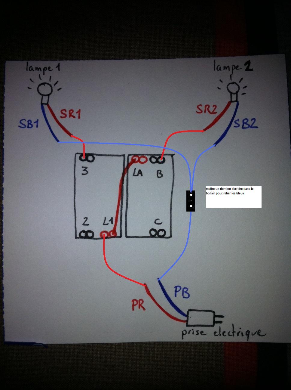 comment installer un double interrupteur dans une tte de lit