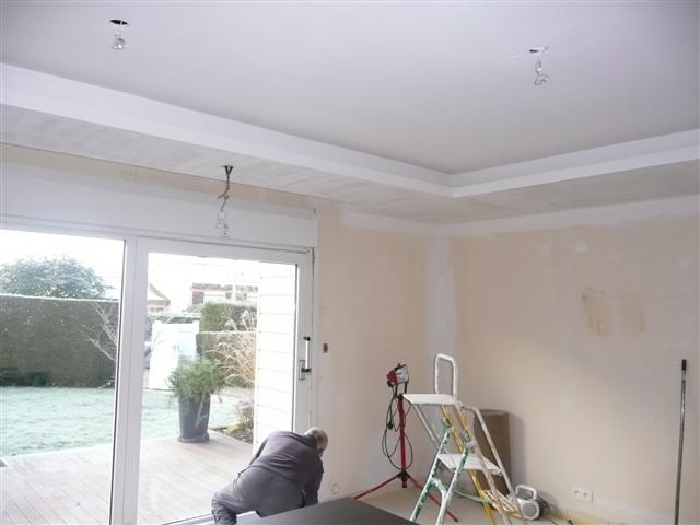 Fixation hotte ilot et faux plafond