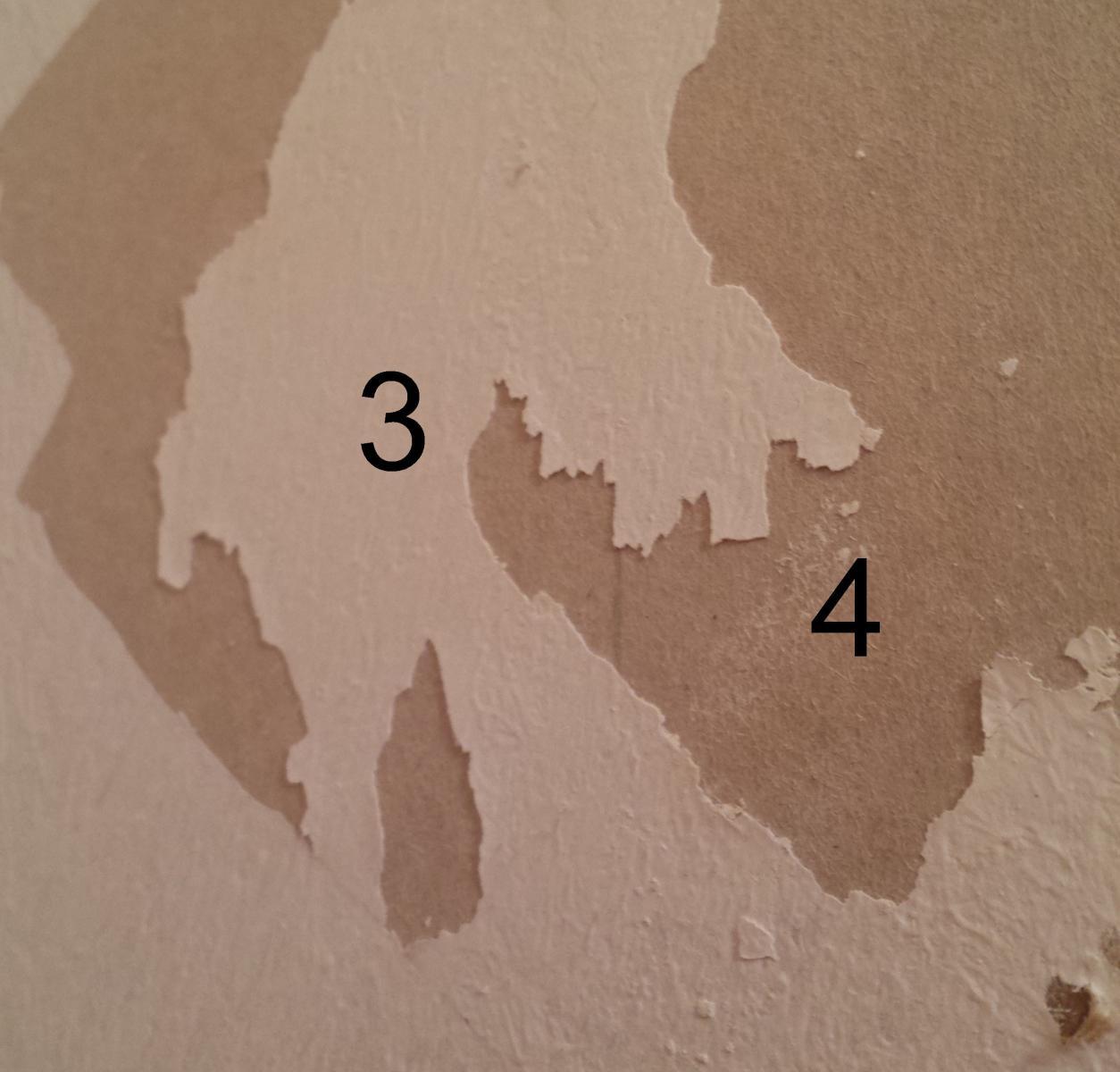 Dcollage papier peint et prparation mur  peindre