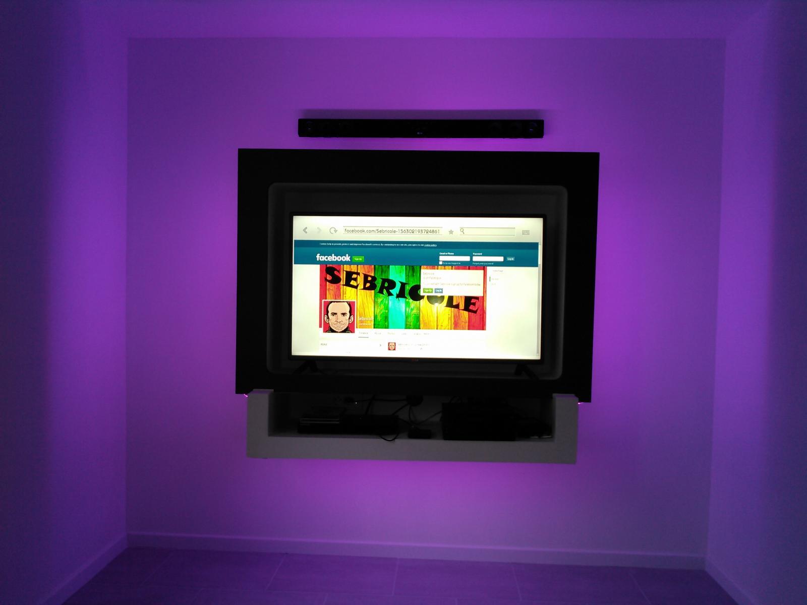 fabriquer en meuble tv suspendu en placo