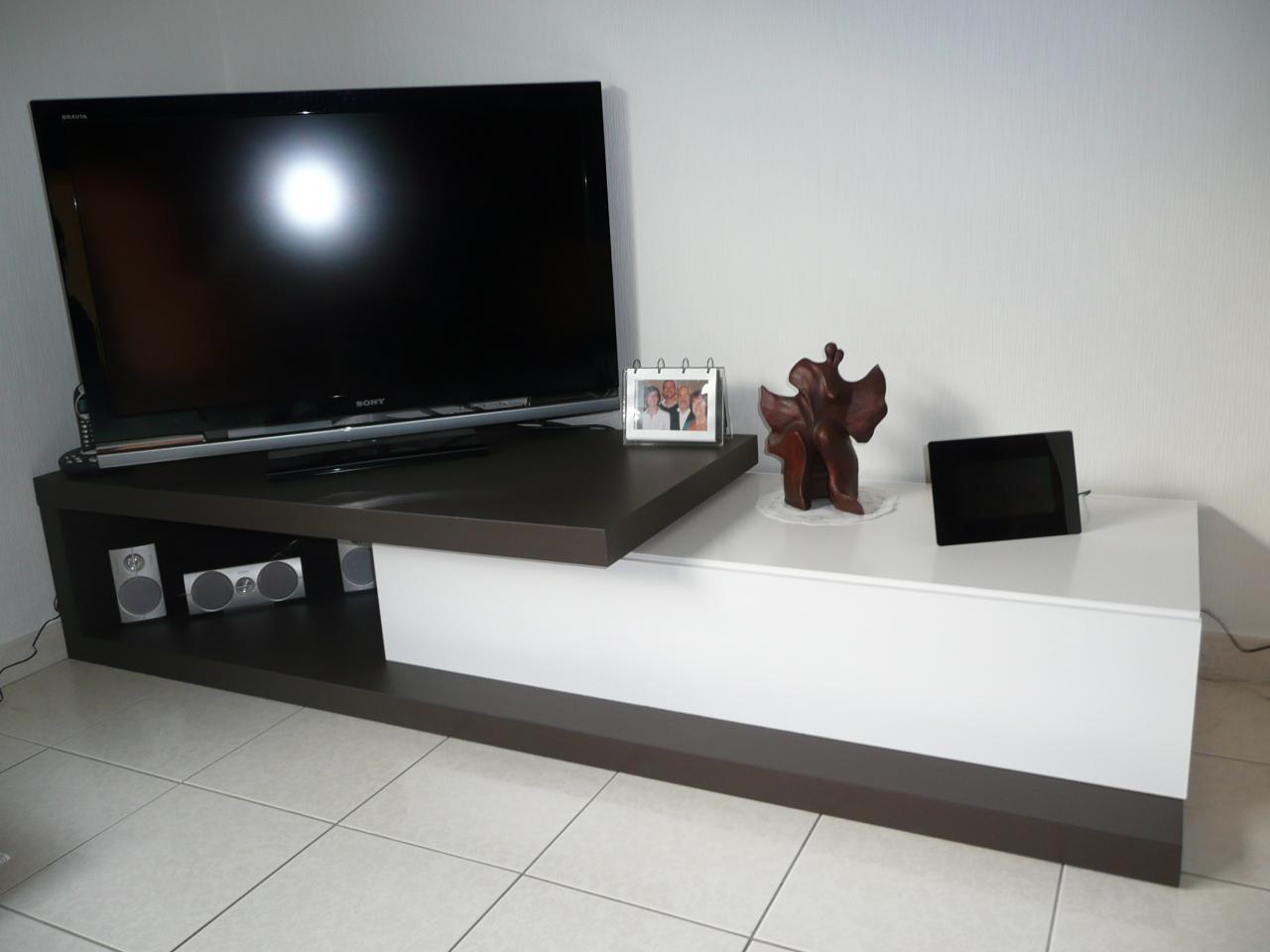 Meuble Tv En Coin construire meuble tv   construire son meuble simple faire