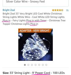 said it was a plug in string of lights got it and it has two battery packs not a plug in went to return it and it says it s not eligible to be  [ 986 x 2027 Pixel ]