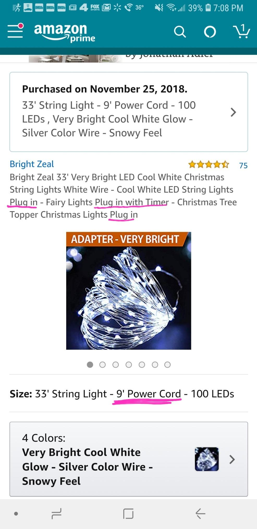 hight resolution of  said it was a plug in string of lights got it and it has two battery packs not a plug in went to return it and it says it s not eligible to be