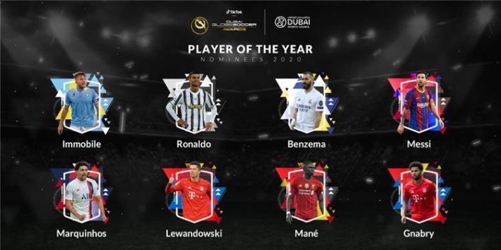 اللاعبين المرشحين لجائزة جلوب سوكر 2020